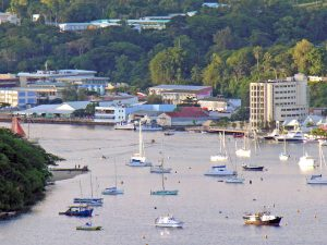 Boats with Port Vila Town