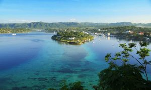 Port Vila Harbour Aerial from Digicel direction