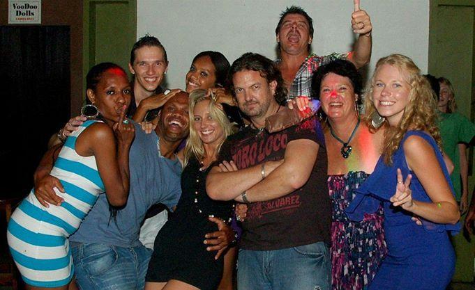 Tourists, Expats, and Ni-Vans having fun at the Voodoo Bar nightclub